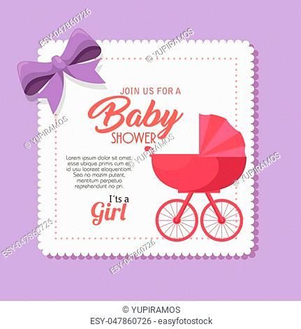 baby shower invitation card vector illustration design