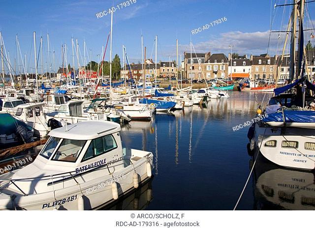 Boats in harbour, Paimpol, Baie de Saint Brieuc, Brittany, France
