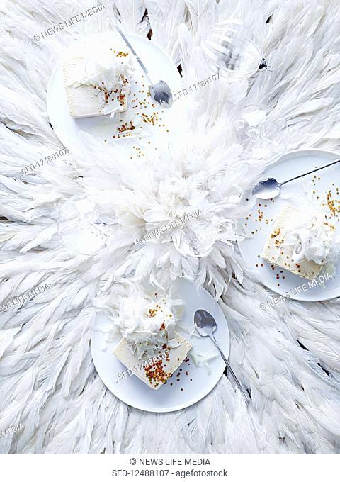 Roasted white chocolate parfait