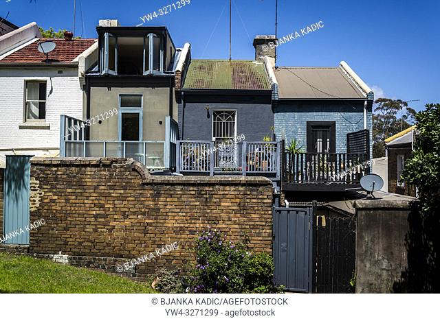 Terraced houses, Surry Hills, Sydney, Australia