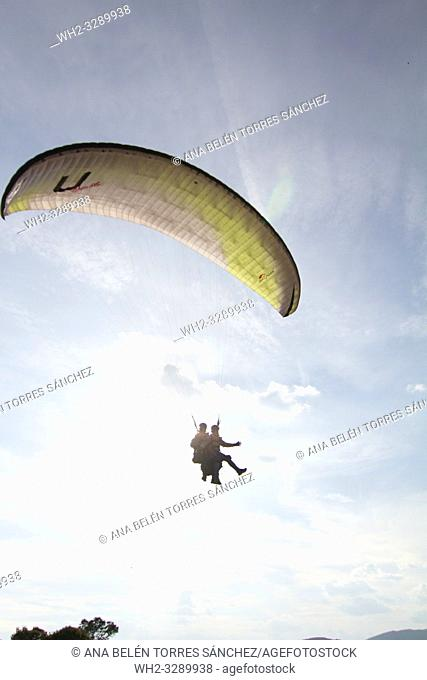Risk sports Flight with paragliding