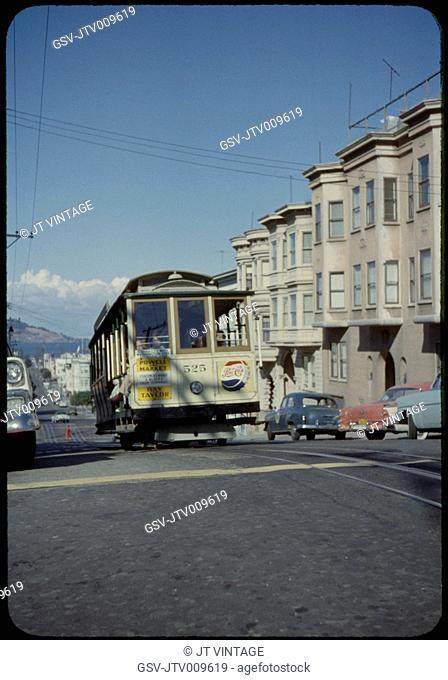 Cable Car, San Francisco, California, USA, 1957