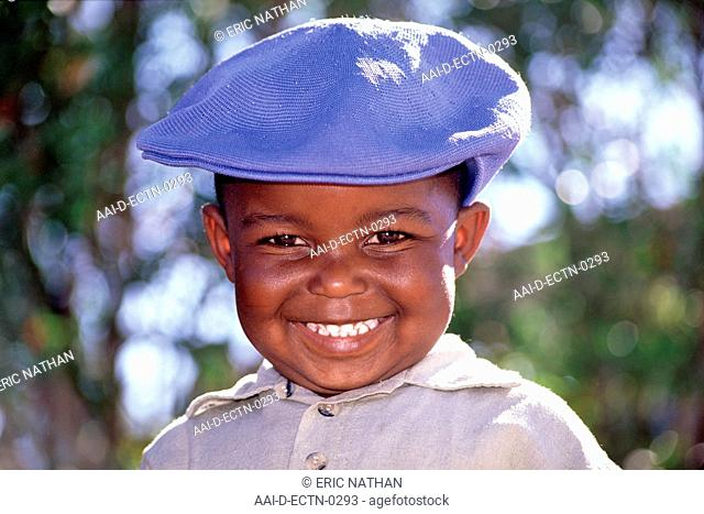 Portrait of Colin Ramonethe, a 3-year old boy in Johannesburg. THIS IMAGE IS MODEL RELEASED