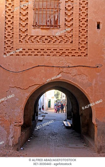 street with arcade, Nefta, Tunisia