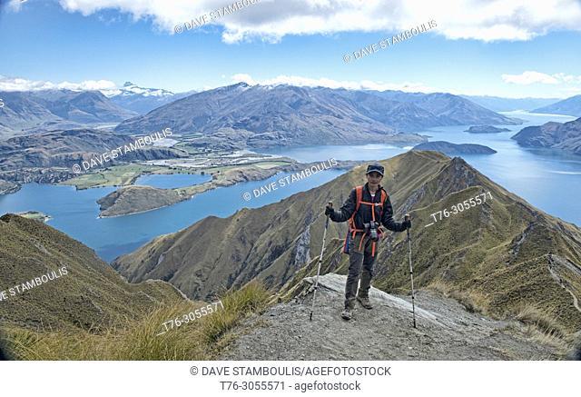 Tremendous views of Lake Wanaka from Roy's Peak, Wanaka, New Zealand