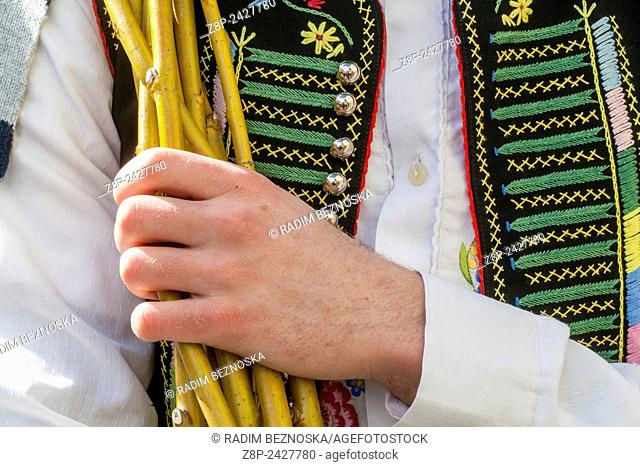 Easter whip and folk costume