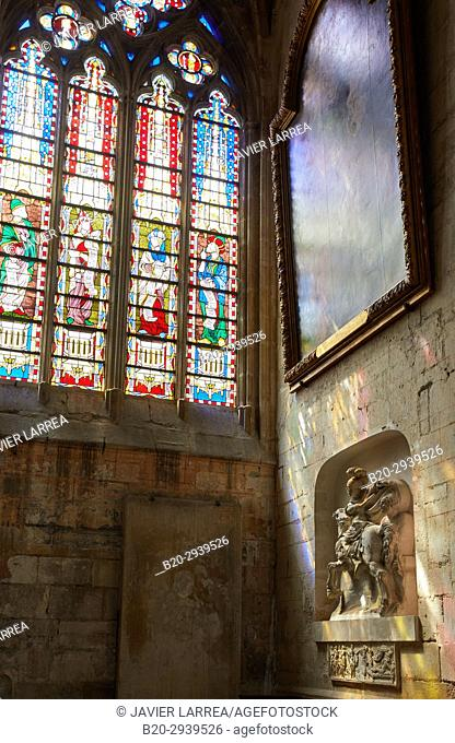 Stained glass windows, Cathedrale Saint-Etienne, Auxerre, Yonne, Burgundy, Bourgogne, France, Europe