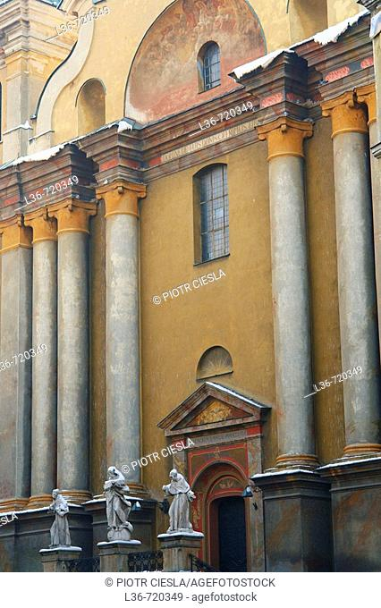 Franciscan church in the old town, Przemysl. Poland