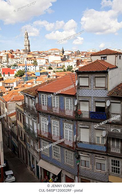 Building and cityscape, Porto, Portugal