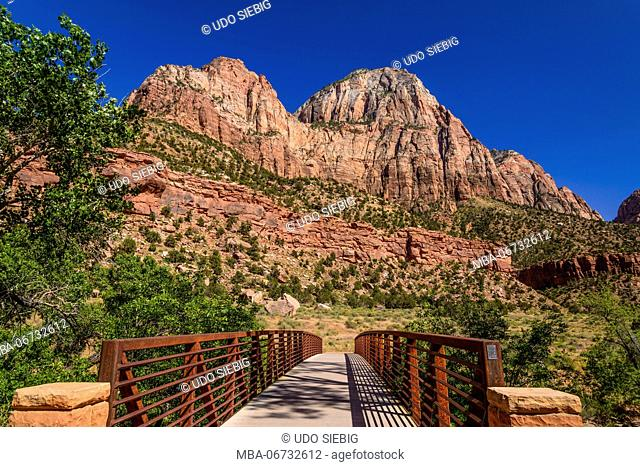 The USA, Utah, Washington county, Springdale, Zion National Park, Virgin River Valley, Pa'rus Trail