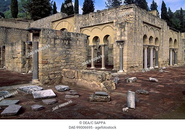 Viziers' House, the ruins of the palace of Medina Azahara, Cordoba, Andalusia. Detail. Spain, 10th century