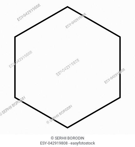 Hexagon icon black color vector illustration flat style simple image