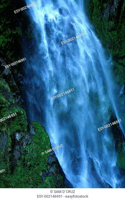 Waterfall - Milford Sound, Te Wahipounamu, New Zealand