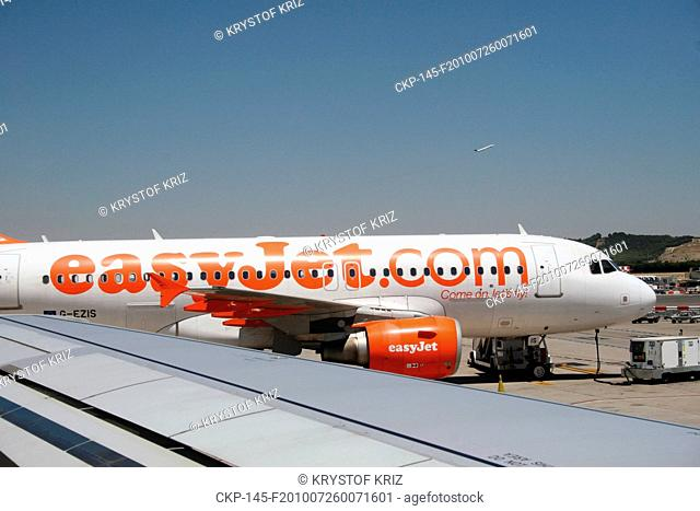Airplane of the low cost airline Easyjet at the Barajas airport in Madrid, Spain CTK Photo/Krystof Kriz