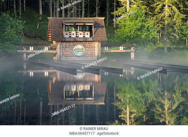 archery range, Schattensee (lake), Krakauschatten (village), Styria, Austria