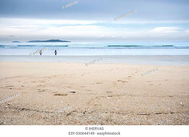 Photo taken in La Lanzada Beach, Pontevedra, Galicia, Spain, one of the top three beaches in Galicia