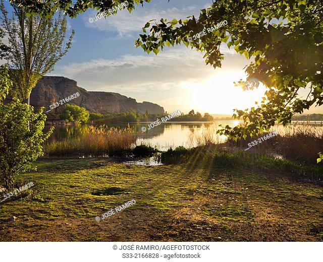 Campillo Lagoon in Rivas-Vaciamadrid. Madrid. Spain
