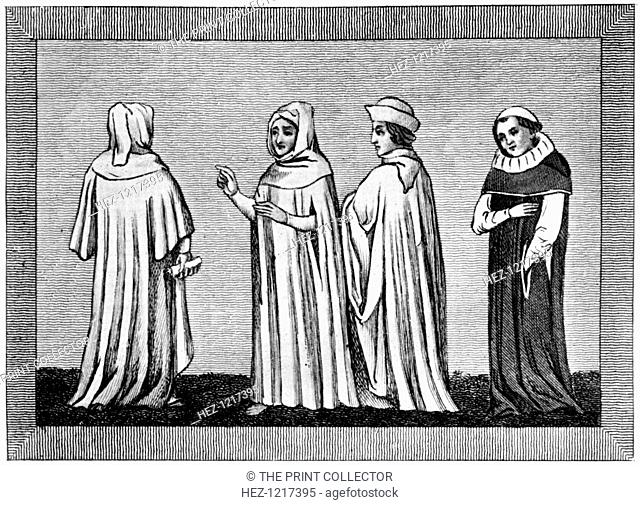 Law habits, 14th-15th centuries, (1910). The dresses worn by law officials did not undergo many alterations but remained very constant