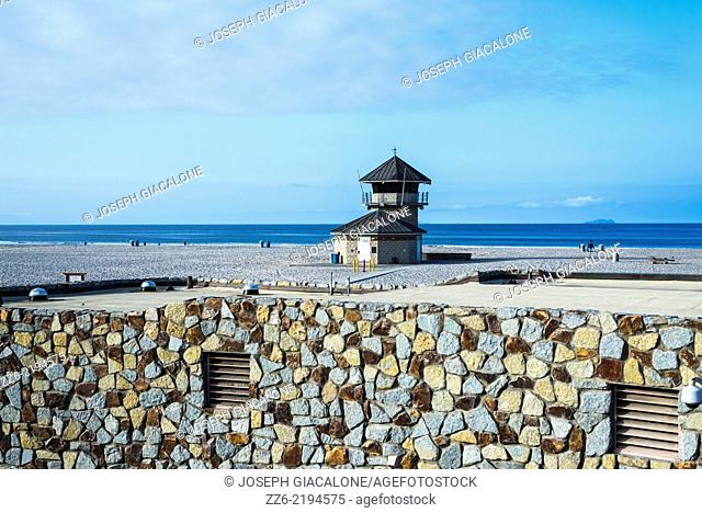 Lifeguard tower at Coronado Central Beach. Coronado, California, United States
