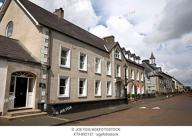 the academy house in 18th century gracehill village a moravian settlement in county antrim northern ireland uk Gracehill was northern irelands first...