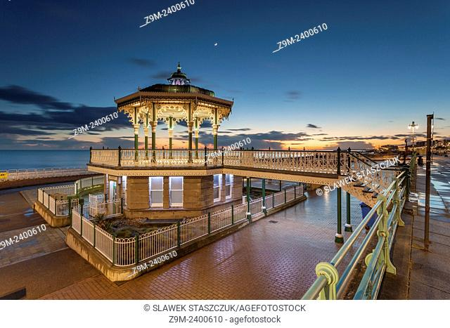 Evening at the Bandstand in Brighton, UK