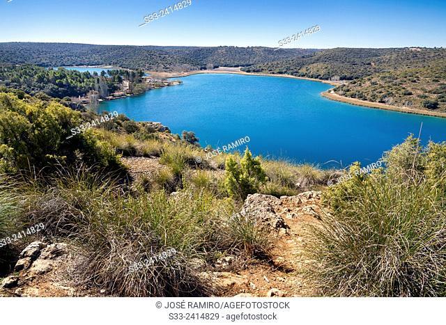 Tinaja lagoon. Lagunas de Ruidera Natural Parck. Albacete. Castilla la Mancha. Spain. Europe