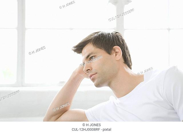 Side portrait of man