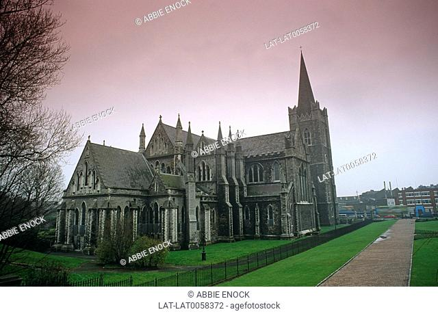 St Patrick's Cathedral is the national Anglican church of Ireland,and was built in the 13th century