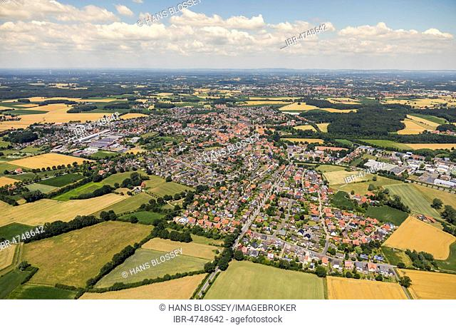 Overview Freckenhorst, Warendorf, Münsterland, North Rhine-Westphalia, Germany
