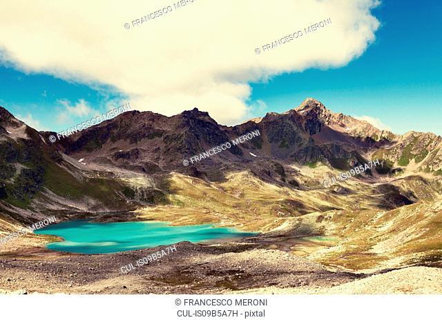 Mountain range, Davos, Graub³nden, Switzerland