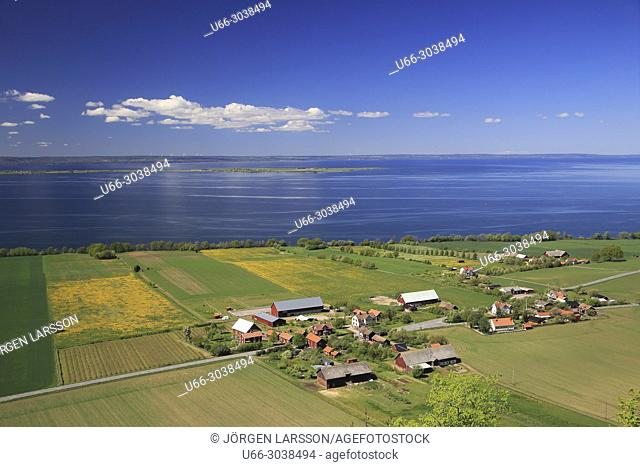 From Brahe hus, Vastergotland, Sweden. In the background lake Vattern and Visigso