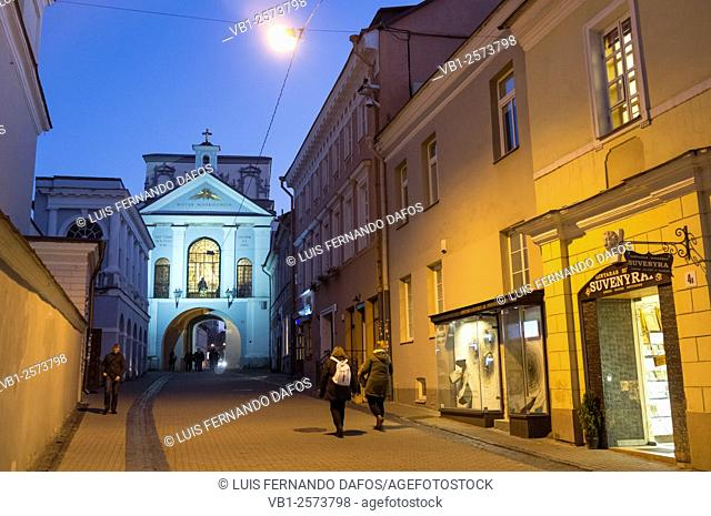 Our Lady of the Gate of Dawn an object of veneration for both Roman Catholic and Orthodox in Vilnius, Lithuania