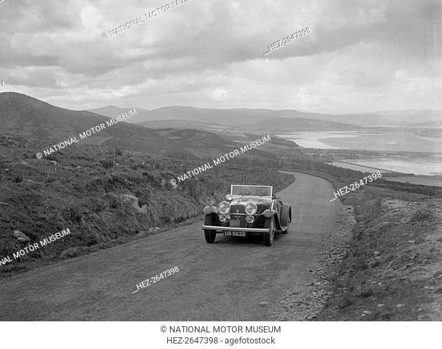 Alvis Speed Twenty tourer competing in the RSAC Scottish Rally, 1934. Artist: Bill Brunell