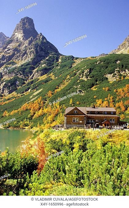 The mountain challet Chata pri Zelenom plese in High Tatras, Slovakia