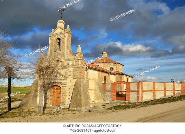 Cuatro Calzadas Hermitage. Collado de Contreras (Avila), Spain
