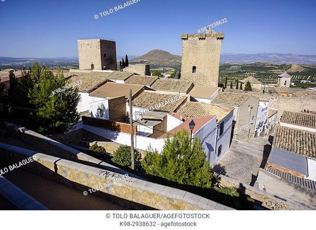 Castillo de Jódar, epoca iberica, Jódar, comarca de Sierra Mágina, Jaen, Andalucia, Spain