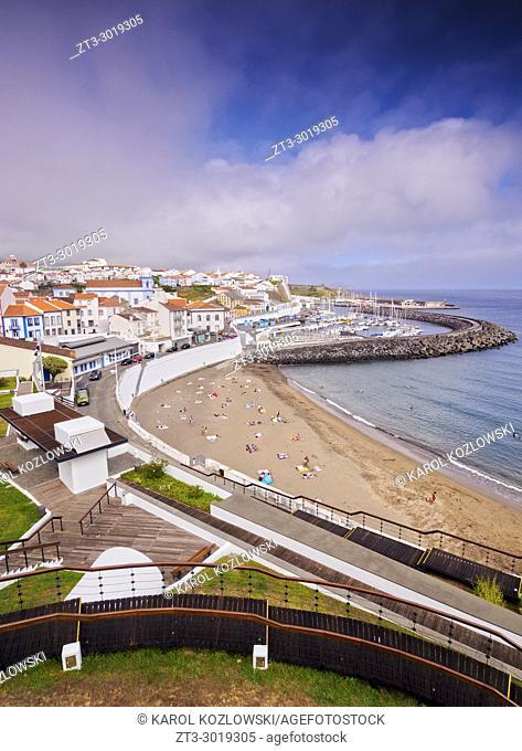 Angra do Heroismo, elevated view, Terceira Island, Azores, Portugal