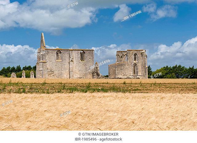 Abbey Notre-Dame-de-Ré or Les Châteliers, La Flotte, Ile de Re island, Departement Charentes Maritime, France, Europe