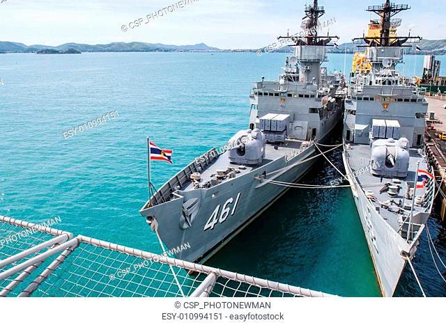 CHONBURI, THAILAND - MAY 11: The FAST FRIGATE ,FF battle ship wa