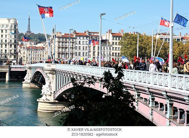 Demonstration for purchasing power, Lyon, Rhône, Rhône-Alpes, France