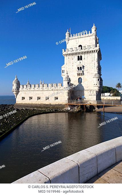 Torre de Belem, Belem Tower or Tower of St Vincent, Unesco World Heritage Site, Belem district, Lisbon, Portugal, Europe