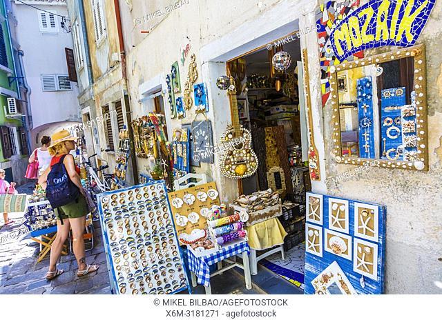 Gift shop. Piran. Slovene Istria region. Slovenia, Europe