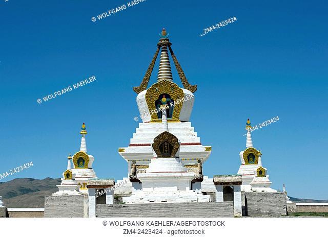 The Golden Stupa (Altan Stupa) at the Erdene Zuu monastery in Kharakhorum, Mongolia, MongoliaÂ's largest monastery, (UNESCO World Heritage Site)
