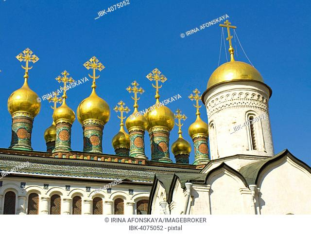Verkhospassky Cathedral and Church of the Deposition of the Robe, Moscow Kremlin, Moscow, Russia