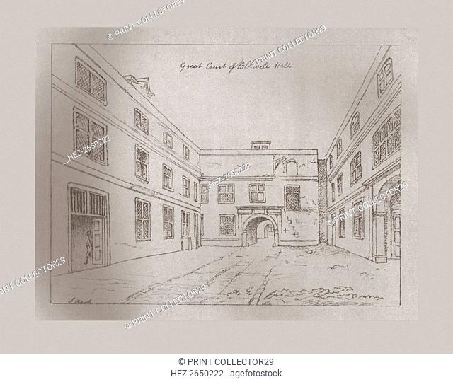 Great Court of Blackwell Hall, 1886. Artist: Unknown