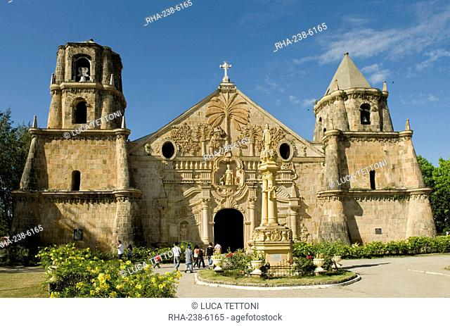 Miagao Church built in 1797, recently restored, UNESCO World Heritage Site, Iloilo, Panay, Philippines, Southeast Asia, Asia