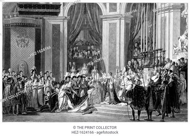 'The Consecration of the Emperor Napoleon and the Coronation of the Empress Josephine, 2nd December 1804', 1900. David's depiction of the event was painted in...