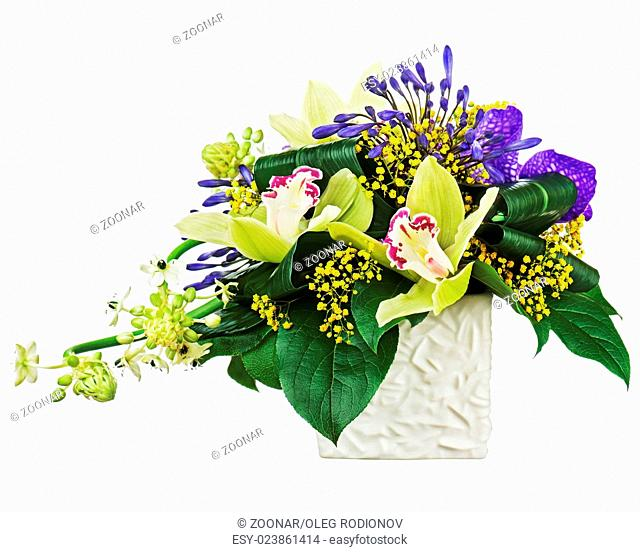 Bouquet from orchids and Arabian Star flower (Orni