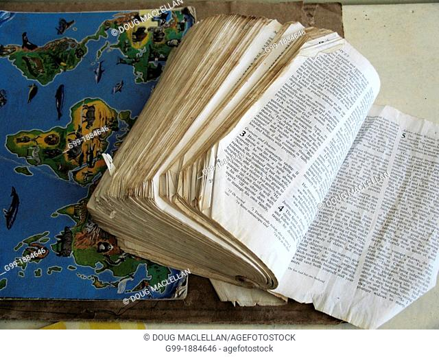 Howard Hospital, Zimbabwe. A well used bible found at Tariro Clinic. The clinic serves people with tuberculosis. The Howard Hospital is administered by the...