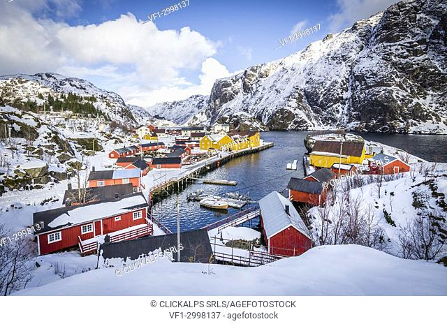 Nusfjord village, Lofoten Islands, Norway